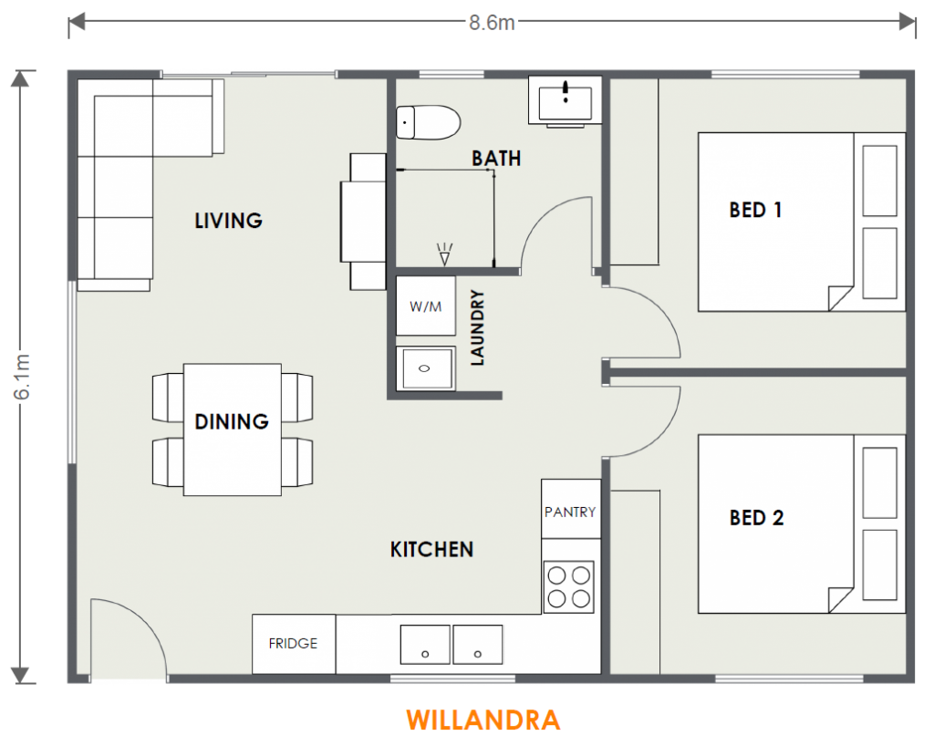 WILLANDRA Granny flat floor plan